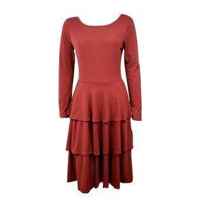 NWT LULAROE Burnt Red Georgia Dress Medium
